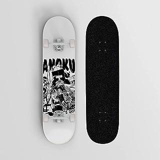 أنيمي لوح التزلج ل One Piece Monkey D. Luffy Straw Hat Pirates نمط Longboard SkateBoards، 7 طبقة Canadian Maple Double Kic...
