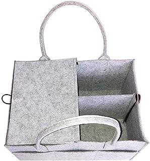 ENticerowts Bag Storage Bag Organizer Outdoor Travel Baby Nappies Diaper Sundries Felt Dustproof Handbag with Handle