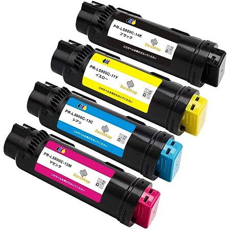 【大容量 4色セット】 PR-L5800C互換トナー BK/C/M/Y 「4色セット」印刷可能枚数:2000枚ぐらい/色(A4用紙で5%印字率の場合)対応機種:NEC ColorMultiWriter5800C/PR-L5800C 国際規格ISO9001認証工場生産 ICチップ搭載 【DoraShop製】