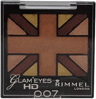 Rimmel Glam' Eyes HD Quad Eye Shadow Palette, Heart of Gold, .14 oz