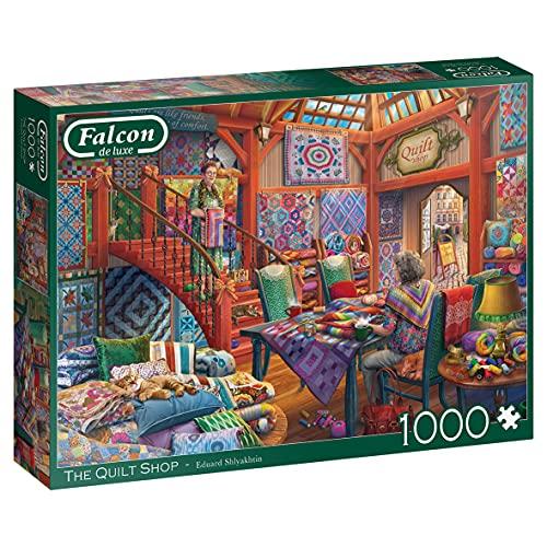 Jumbo- The Quilt Shop Puzzle, Multicolore, J11285