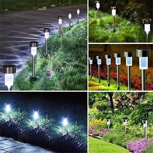 Lampada da Giardino a LED ad energia Solare per Esterni in Acciaio Inossidabile