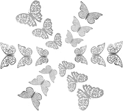 Amgiimor 72Pcs 3D Butterfly Wall Decals Sticker Wall Decal Decor Art Sticker Decorations Set, 3 Sizes & Types Paper Murals...