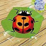 Lishiguli Embroidery kit DIY. Latch Haken Teppich Kits Stickerei Kits Kissen Stickerei Latch Haken Kits Kissen Für Kinder, Bogen, 50x42cm / 20x16 in (Color : Ladybug, Size : 50x42cm/20x16...