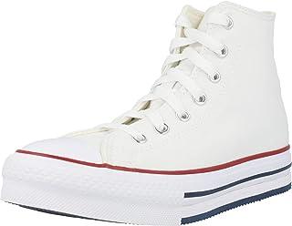 Converse Chuck Taylor All Star EVA Lift Hi Blanc/Bleu (White/Midnight Navy) Toile Ado Formateurs Chaussures