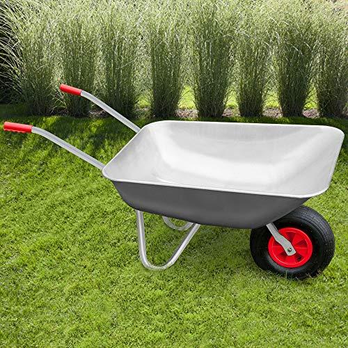 Deuba Monzana® Schubkarre 80L Bauschubkarre bis 200kg Gartenkarre | 200kg Belastbarkeit | verzinkter Stahlrohrrahmen - 2