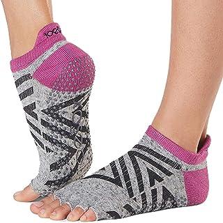 ToeSox Women's Low Rise Half Toe Grip Non-Slip for Ballet, Yoga, Pilates, Barre Toe Socks