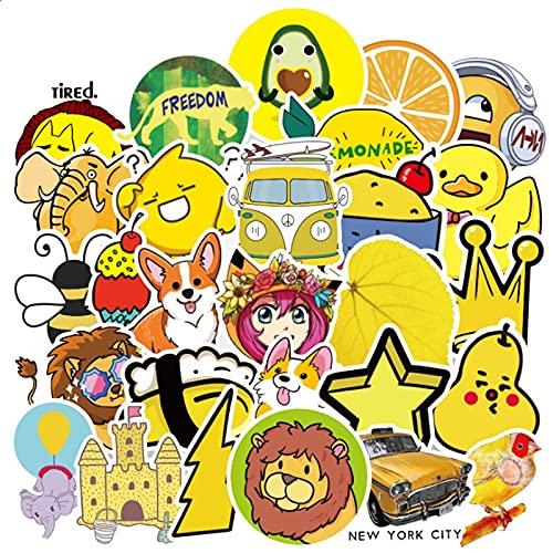 TUHAO Patrón de fruta amarillo pequeño fresco y lindo impermeable guitarra monopatín graffiti coche impermeable etiqueta al por mayor 50pcs