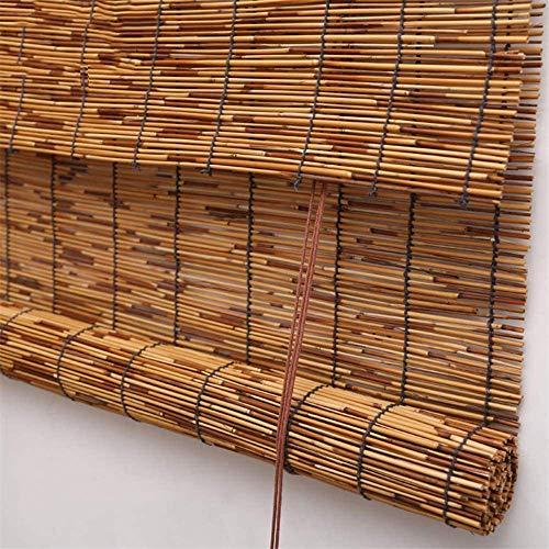 Renqian rolgordijnen van bamboe | Rollo van riet | schaduwventilatie van bamboe, retrostijl, half afgeschermd