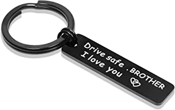 Best Drive Safe Keychain for Brother Be Safe Dad I Love You keychains for Uncle Gifts for Grandpa Review