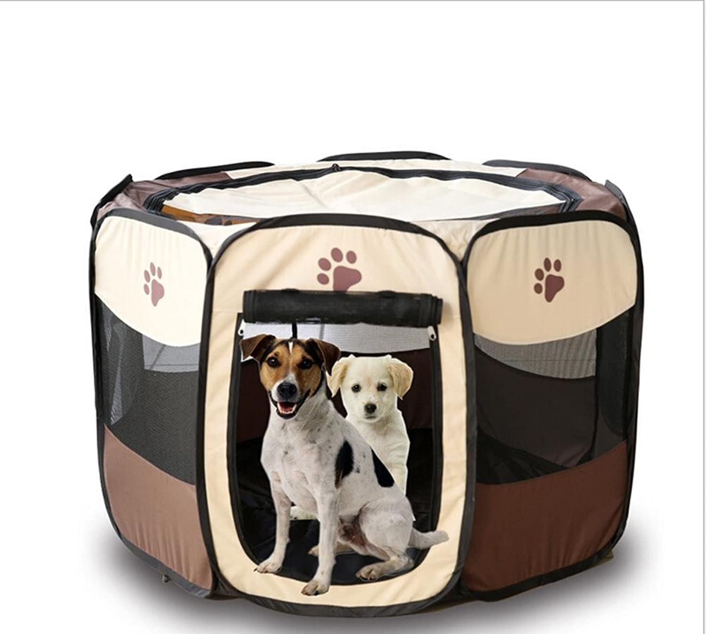 Fabric Folding Pet Playpen Pet Dog Cat Rabbit Pig Playpen Pet Kennel Cage Indoor Outdoor Tent Fence Comfortable Breathe Freely WL003, m