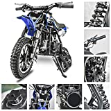 Fit Right 2020 DB001 49CC 2-Stroke Kids Dirt Off Road Mini Dirt Bike, Kid Gas Powered Dirt Bike Off Road Motorcycle (Blue)