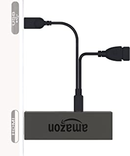 AuviPal 2 in 1多機能usbケーブル, Amazon Fire TV Stick に適しています - Fire Stickに余分なUSBポートを追加し、AmazonのFire TVスティックをテレビのUSBポートから直接取り出し、ACコンセントが不要になります