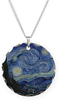 Vincent Van Gogh Starry Nigh - Charm Necklace with Round Pendant