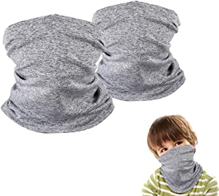 2 Pack Kids Neck Gaiter, Face Scarf Bandana for Boys and...