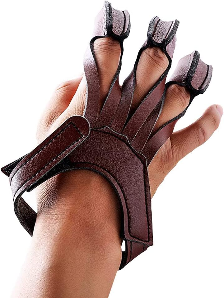 Nachvorn Archery Gloves 3 Los Angeles Mall Finger Shooting Leather Max 44% OFF Handmade Guard