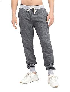 Off Cliff Side Pocket Contrast Elastic Cuff Cotton Sweatpants for Men