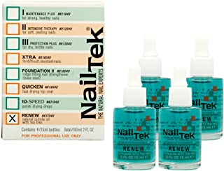 4 Pack Nail Tek Renew Natural Cuticle Oil .5 OZ With TEA TREE Extracts Manicure