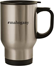 #mahogany - Stainless Steel 14oz Road Ready Travel Mug, Silver