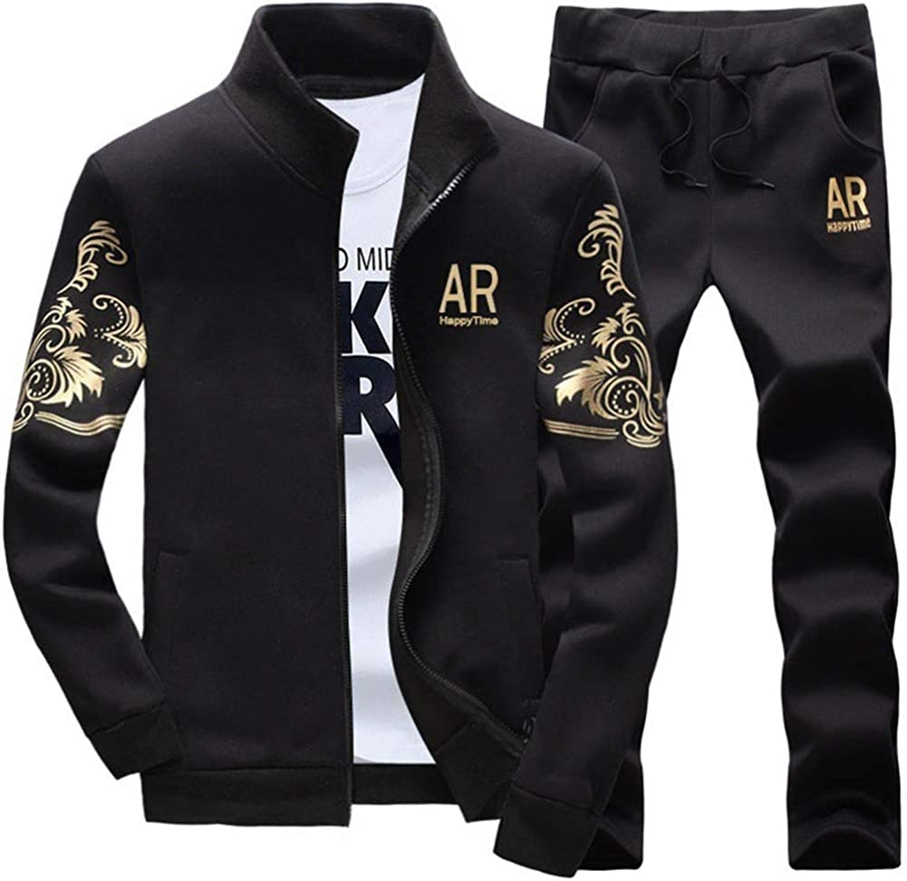 AOTORR Men's Tracksuit Athletic Sports Full security Warm Jogg Zip Casual sold out