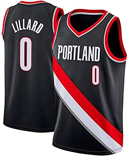 anking Camiseta de Hombre - NBA Damian Lillard # 0 Portland Trail Blazers Jersey de Baloncesto Cosido Swingman Jersey (S-XXL), no se desvanece,Gris,M