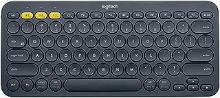 لوجيتك K380 لوحة مفاتيح انجليزية لاسلكية متوافقة مع عدة اجهزة - اسود