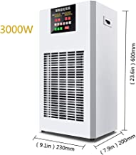 Calentador Industrial Calentadores De Aire Caliente De Cría De 3KW Área De Calentamiento Panel LCD De 40-60m2 Aspas del Ventilador En Forma De U, Protección contra Sobrecalentamiento De Bajo Rui