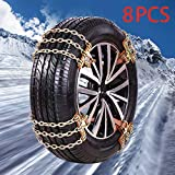 Best Snow Chains - ShuYu 【New 2020】 Snow Chains, 8 Pcs Snow Review