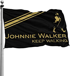 FinlConwy Johnnie Walker Garden Flag Home Polyester Fabric Welcome House Yard Personalized Banner Decorative Flag (4 X 6 FT) (120 X 180 cm)