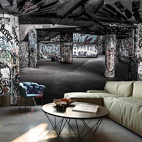 Nomte Benutzerdefinierte 3D Wand Backsteinmauer Graffiti Kunst Retro Industrie Altes Lager Ktv Bar Sofa Tv Hintergrund Zement Wandbild Tapete 450x300cm