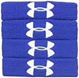 """Under Armour 1"""" Performance Wristband 4-Pack, Royal (400)/White, One Size Fits All"""