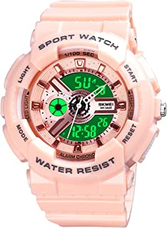 Womens Digital Sports Watch Large Face Sports Outdoor Waterproof Military Chronograph Wrist Watches for Women with Date Mu...