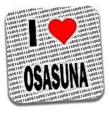 Posavasos con texto en inglés 'I Love Osasuna', regalo de cumpleaños, Navidad, calcetín
