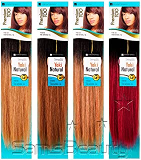 Sensationnel Human Hair Weave Premium Too Natural Yaki Two Toned Special Color 10