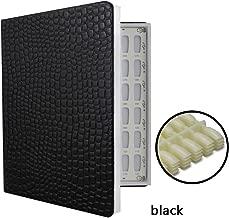 NMKL38 120 Nail Color Chart Display Book for Nail Polish UV Gel Color Cards Nail Salon Tool with False Nail Tips (Black)