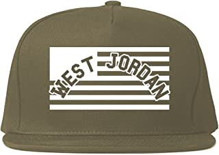 City of West Jordan with United States Flag Snapback Hat Cap