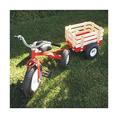 Unbranded Childhood Classic Tricycle with Wagon Set Pull Along Trike Toy Kids Outdoors