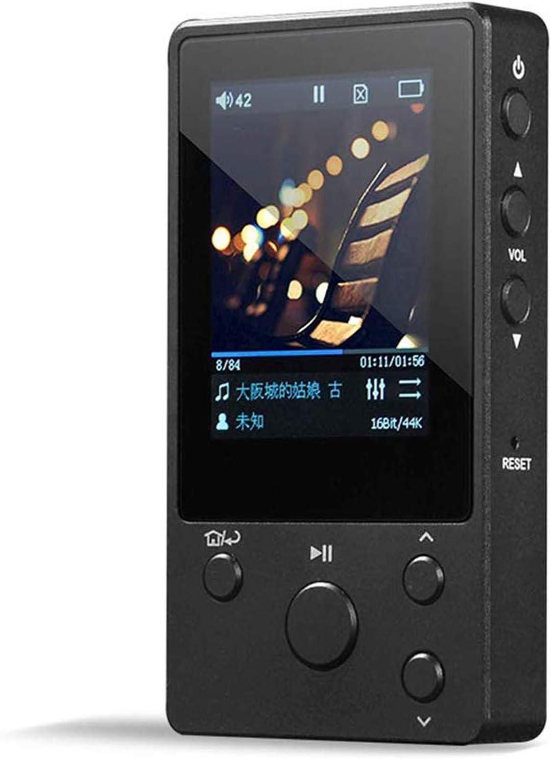 HAWK LI Mini MP3 Player, 8G High Fidelity Lossless HiFi MP3 Music Player, DSD256 Decode, Metal Body, Portable 2.0 inch IPS Screen CNC HiFi Player,...