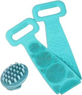 Cepillo de baño de silicona para baño toalla de baño artefacto espalda larga pelada toalla de baño con cepillo de cha...