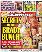 October 5, 2015 National Examiner Secrets of the Brady Bunch! TV Chefs - Their Guilty Pleasures! Mickey Rooney's Affair with Elizabeth Taylor Sean Connery