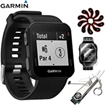 Garmin Approach S10 - Lightweight GPS Golf Watch Black (010-02028-00) with Deluxe Golf Bundle Includes, 7-in-1 Golf Tool +...