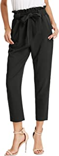 GRACE KARIN Women's Pants Trouser Slim Casual Cropped...