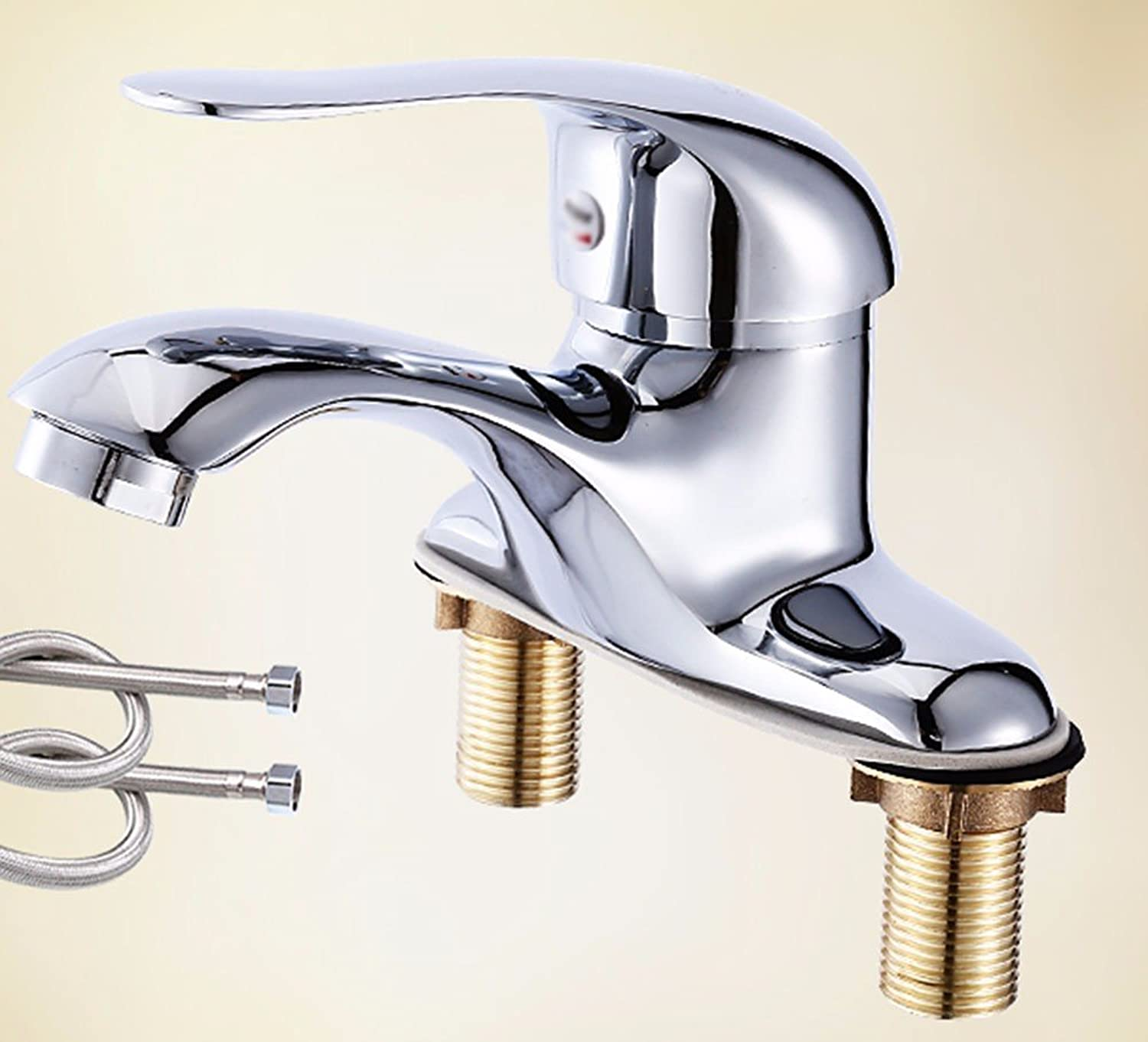 Hlluya Professional Sink Mixer Tap Kitchen Faucet Copper, hot and cold, and double-hole stretch, Washbasin Faucet, 9