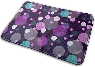 "Large and Small Colored Circles Doormat Front Door Mat Non Slip Door Rug Shoes Scraper Rug Carpet - 23.6"" x 15.8"""