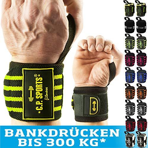 C.P. Sports Handgelenk Bandagen Fitness DAS ORIGINAL, Bänder, Bandagen Bodybuilding, Handgelenkbandage, Crossfit, Kraftsports, Männer, Frauen, 2 Jahre Gewährleistung