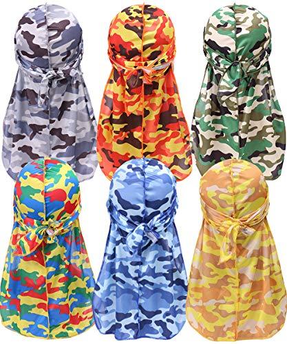 Durags for Men Women,Silky Velvet Du-rag for 360...