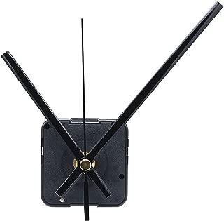 12888 Quartz DIY Wall Clock Movement Mechanism Repair Parts Replacement Kit Sweep Silent Movement,13mm (1/2 Inch) Maximum Dial Thickness, 23mm (29/32 Inch) Total Shaft Length.(Black Hand)