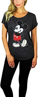 Disney Womens Mickey Mouse Stand Scoop Neck Doleman Tee