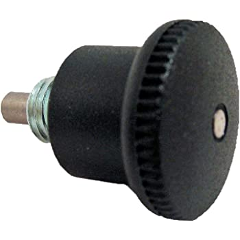 Threaded Body 0.71 Thread Length GN 817 Series Steel Non Lock-Out Type Inch Size Indexing Plunger with Multiple Pin Lengths and Threaded Spindle with Lock Nut Spring Load End 3.6 Pounds 3//18-16 Thread Size