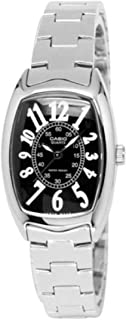 Casio Women's Black Dial Stainless Steel Band Watch - Ltp-1208D-1B, Analog Display, Silver Band